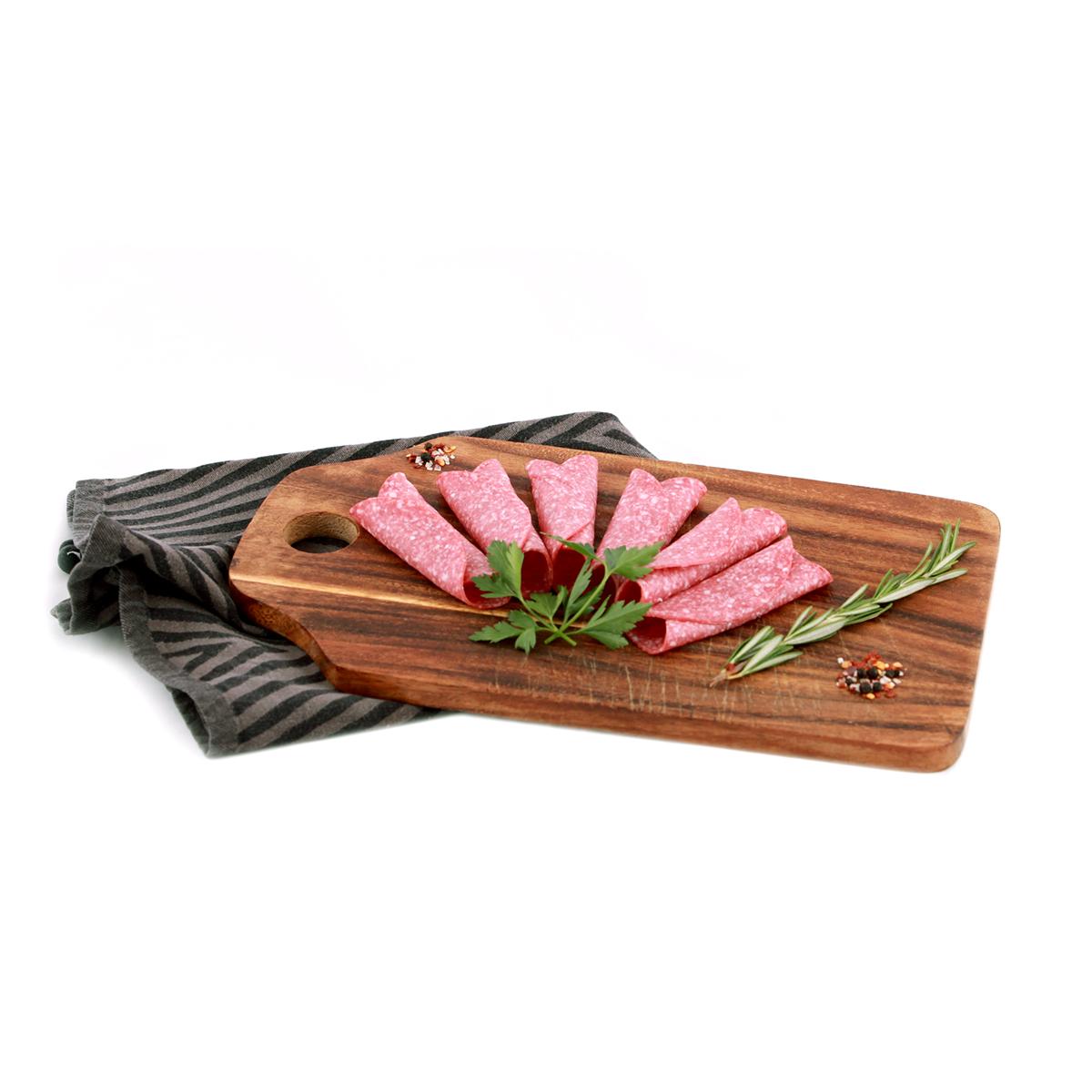 Salami geschnitten